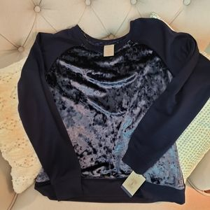 Jasmine and Ginger velour top